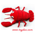 Plush Cartoon Lobster Toy