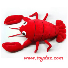 Plush Cartoon Lobster Toy