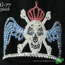Tiara de encargo de la corona del desfile de encargo de los nuevos rhinestone de los diseños Halloween