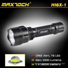 Maxtoch HI6X-1 templado vidrio ultra-claro Antorcha recargable caza luz