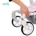 Carrinho de bebê personalizado de luxo 2 em 1 carrinho de bebê multifuncional dobrável