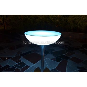 Controlo a distância plástico PE levou bar tabelas/cocktail tabelas/iluminado LED luz de tabela em mudança da cor