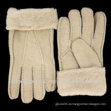 Guantes de piel de oveja de clima frío extremo