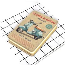 Caderno de capa de metal bonito estilo retro personalizado