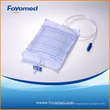 Hot-Verkauf CE, ISO geprüft 2000ml Urin-Tasche mit Non-Return, T-Ventil