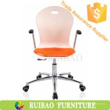 Cadeiras de plástico cadeira de visita de escritório com almofada de malha