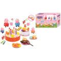 Jouets de gâteau d'anniversaire de porc de Favory rose avec la lumière