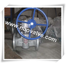 Engrenagem de sem-fim de aço inoxidável Válvulas de vedação de vedação macia (X47H)