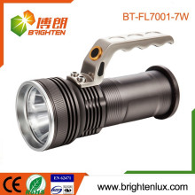 Heavy Duty Aluminium Metal High Power Long Beam Distance Rechargeable 7w Cree Led Portable Lanterne avec 18650 ou 3 * AA Battery