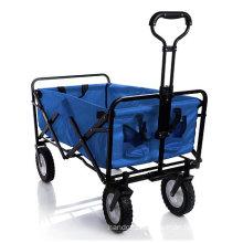 Blue Color Kids Folding Trolley Wagon