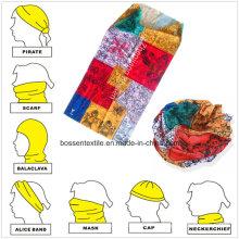 Promoción Poliéster Logotipo personalizado Impreso Buff estilo bufanda sin costuras