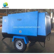 75KW 8bar  Electric Movable Screw Air Compressor