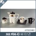 Bellas estilo caliente de cerámica flor elegante calcomanía diseño agradable tetera drinkware