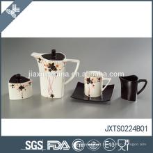 Fino estilo quente cerâmica elegante flor decalque projeto agradável bule teapot