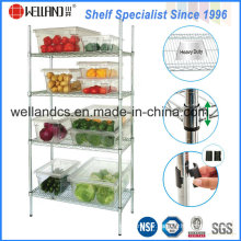 Adjustable Chrome Metal Wire Vegetable Storage Rack for Hotel