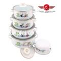 5PCS Enamel Cookware Set (662DG)