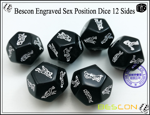 Bescon Engraved Sex Position Dice 12 Sides