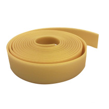 Solid Gold Easy To Clean Polyester Coated Webbing Rubber Strap