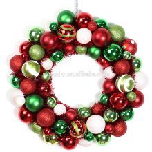 Grinaldas personalizadas de bola de Natal de cores múltiplas