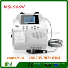 MSL620V / VP Protable Bidirectionnel Vascular Doppler avec grande couleur LCD scratch
