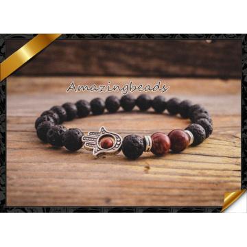 New Products Wholesale Black Lava Stone Beads Natural Stone Bracelet (CB046)