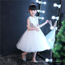 Ivory Embroider Girl Vêtements Enfants Vêtement Mode Girl Dress (ST04)