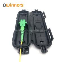 Boîte de protection d'épissure de câble de dérivation de fibre optique 1 entrée 1 sortie