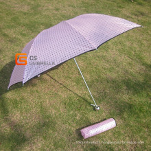 Dames de Style japonais chaud Mini 3-pliage parapluie (YSF3010B)