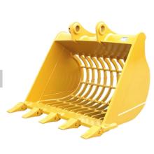 acessórios de escavadeira baldes de esqueleto com dentes de cortadores