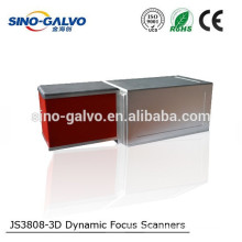 Dynamic focus scanner for large format marking