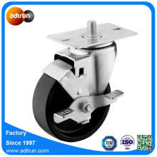 Wheel Lock Braked 4inch PP Swivel Caster