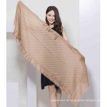 2017 neuer Stil Brown100% Wolle Frauen Schal