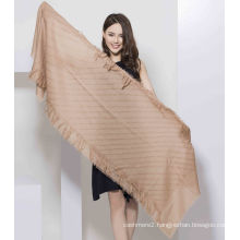 2017 New Style Brown100% Wool Women Scarf
