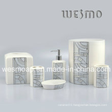 Grid Porcelain Bath Accessory (WBC0503A)