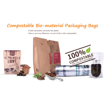 Bolsa de empaque de alimentos compostable / biodegradable con ventana