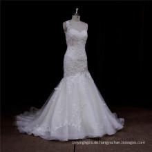 Arabische Meerjungfrau Kleid Luxus Perlen Spitze Braut Weddign Kleid