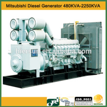 50hz AC 3 phases 480kva Mitsubishi diesel generator with engine S6A3-PTA-S