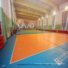 De Buena Calidad Suelo de deporte de voleibol de vinilo de plástico