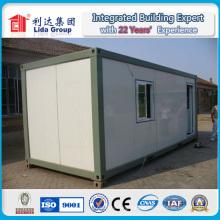 Casa del envase de la estructura de acero del panel de bocadillo / casa del envase de la casa del panel de bocadillo 20FT