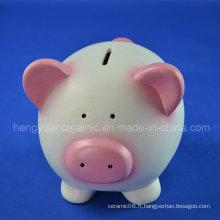 Bonne banque de monnaie en argent de porc rose pour collection d'argent pour enfants