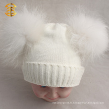 Modèle de détonation Khaki Double Pom Cuff Funny Cute Beanie Hats For Kid