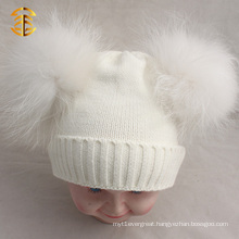 Detonation Model Khaki Double Pom Cuff Funny Cute Beanie Hats For Kid