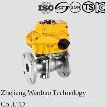 Motorisiertes 2PC Flansch-Edelstahl-Kugelventil mit elektrischem Antrieb