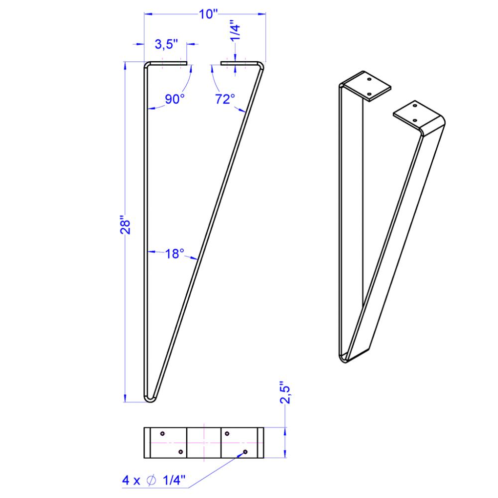 Table Leg 4 2