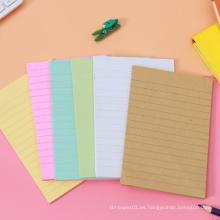 El OEM modificó el cojín de notas pegajoso lindo autoadhesivo colorido de las notas adhesivas de la forma