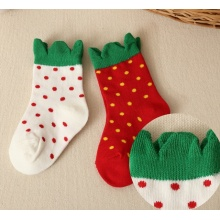 Kids Strawberry Cotton Socks