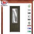 Brentwood Decorative Oak Fiberglass Prehung Front Door