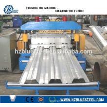 Galvanized Steel Floor Deck Sheet Roll Forming Machine, Forming Russia Type Floor Decking Panels Making Machine