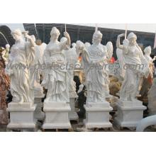 Statue en sculpture de marbre en pierre de marbre pour décoration de jardin (SY-X1599)