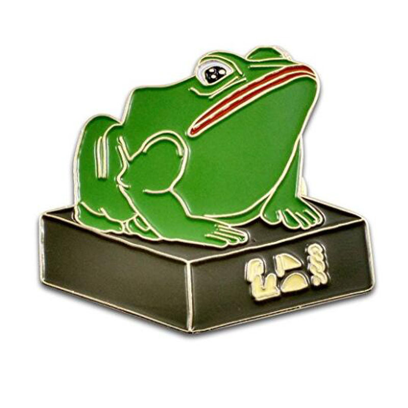 Egyptian Frog Statue Pin
